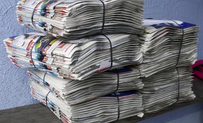 Odvoz separovného papierového odpadu zo zón s rodinnými domami