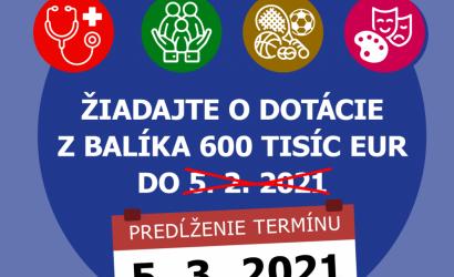 TTSK predĺžil termín na podávanie dotácií