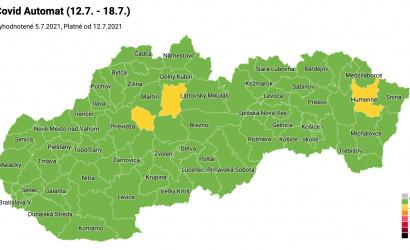 Takmer celé Slovensko je už zelené