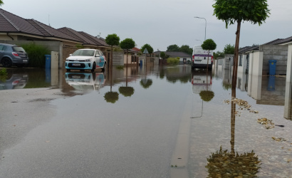 Výdatný dážď spôsobil škody aj na viacerých miestach v Dunajskej Strede