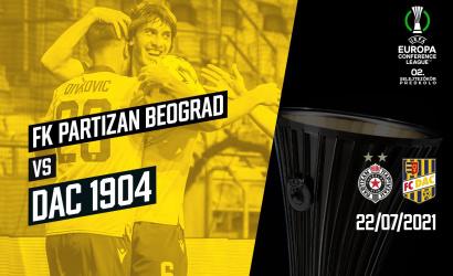 V 2. predkole EKL DAC vyzve Partizan Belehrad