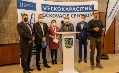 Župa otvorila piate veľkokapacitné očkovacie centrum