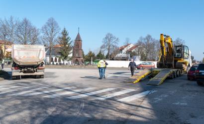 Začala sa výstavba kruhového objazdu Malé Blahovo