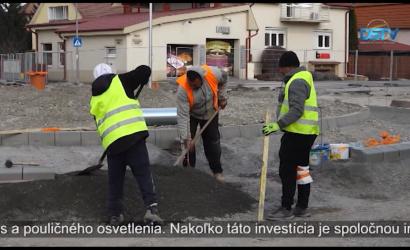 Embedded thumbnail for Výstavba kruhového objazdu v Malom Blahove pokračuje podľa plánu