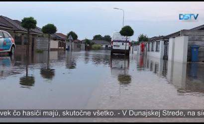 Embedded thumbnail for Prívalový dážď spôsobil vážne škody aj v Dunajskej Strede