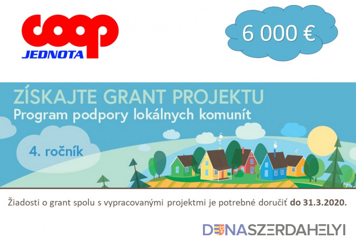 COOP Jednota spustila štvrtý ročník nadačného projektu Program podpory lokálnych komunít
