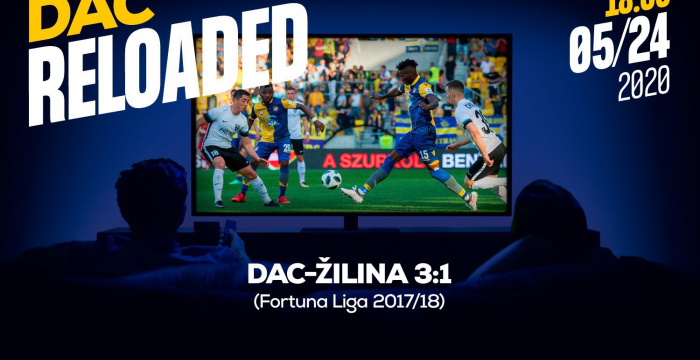 Link na sledovanie zápasu DAC-Žilina (3:1) z jari 2018