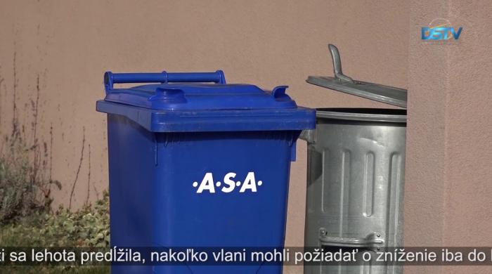 Embedded thumbnail for Zmenila sa lehota o požiadanie zníženia poplatku za odpad