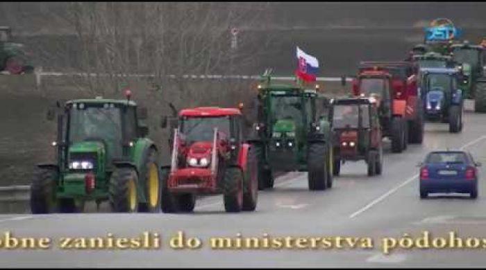 Embedded thumbnail for Demonštračný traktorový konvoj žitnoostrovských farmárov