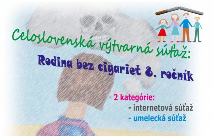 Celoslovenská výtvarná súťaž: Rodina bez cigariet 8.ročník