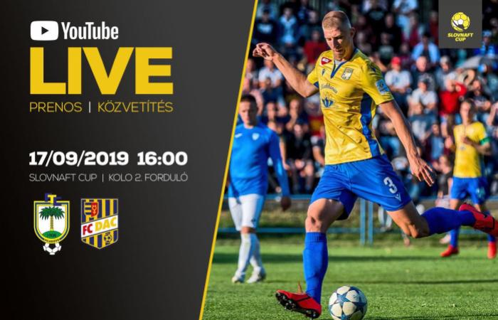 Link na živý prenos z pohárového stretnutia Fiľakovo-DAC