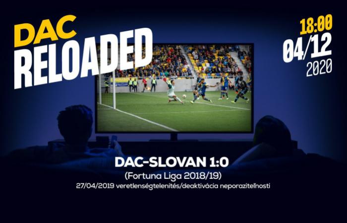 Link na sledovanie zápasu DAC-Slovan (1:0) z jari 2019