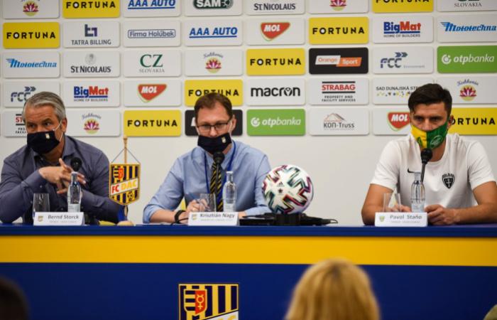 Tlačová konferencia po zápase DAC-Žilina (2:0)
