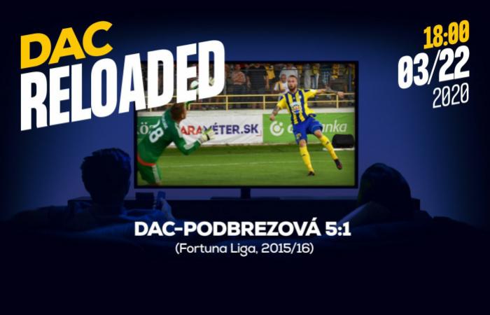 Link na sledovanie zápasu DAC-Podbrezová (5:1)
