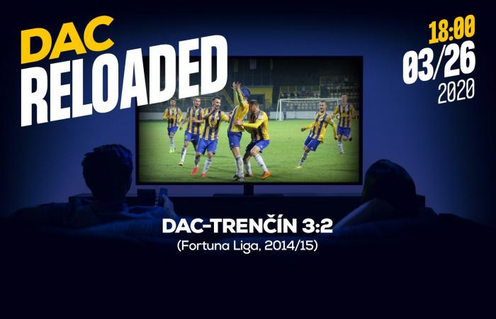 Link na sledovanie zápasu DAC-Trenčín (3:2) z jesene 2014