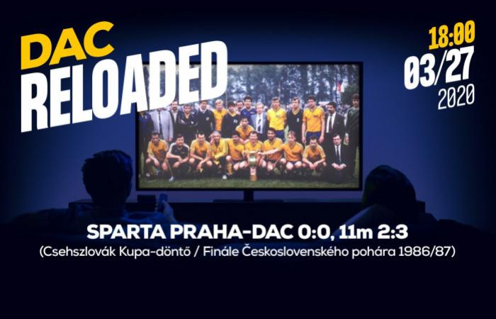 Link na sledovanie finále Československého pohára 1987 Sparta-DAC
