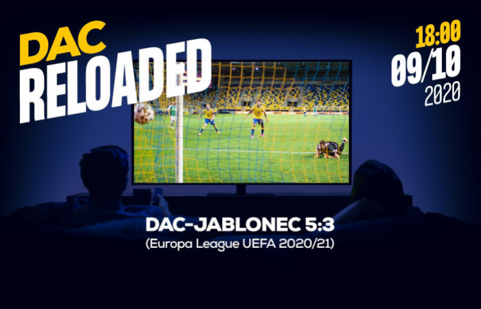 Link na sledovanie pohárového stretnutia DAC-Jablonec (5:3)