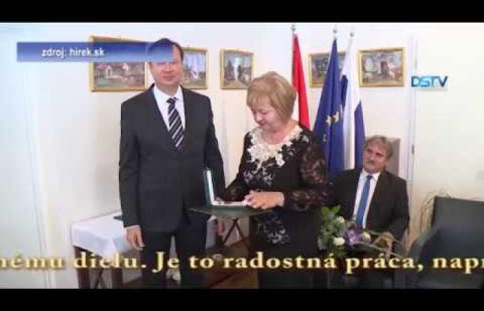 Embedded thumbnail for Vysoké maďarské štátne vyznamenanie pre Gabriellu Jarábik