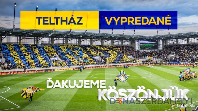 DAC-Slovan: vypredané domáce sektory!