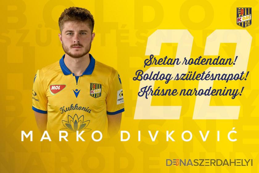 Narodeniny: Marko Divković má dnes 22!