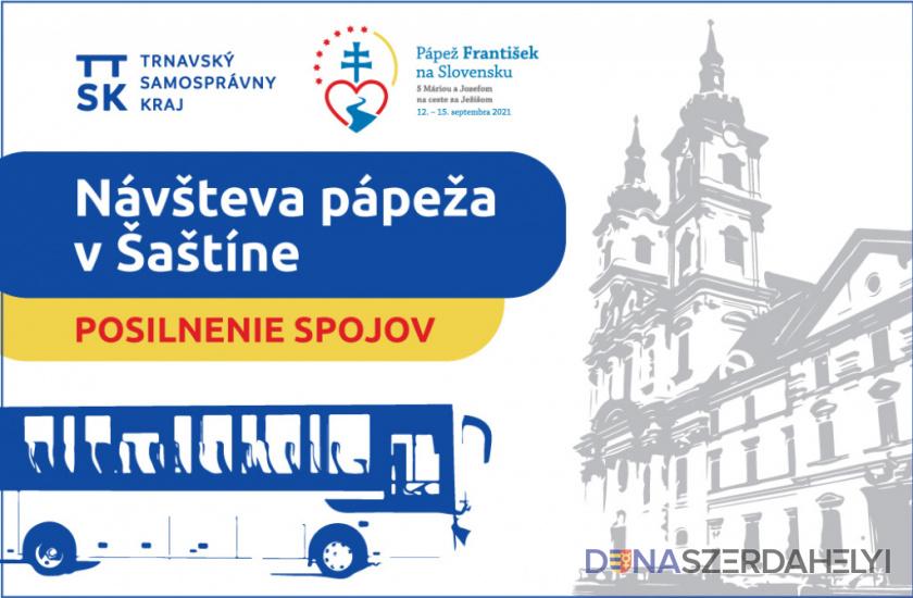 Trnavská župa posilní autobusovú dopravu v súvislosti s návštevou Svätého Otca
