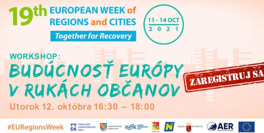 TTSK: Župa sa opäť aktívne zapojí do Európskeho týždňa regiónov a miest