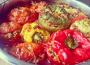 Gemista – vegánska plnená paradajka a paprika na grécky spôsob