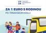 Už takmer 1400 ľudí využilo možnosť cestovať autobusom za 1€